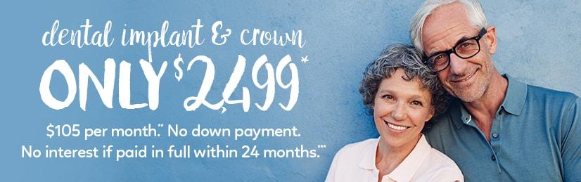Dental Implants Special Offer $2499